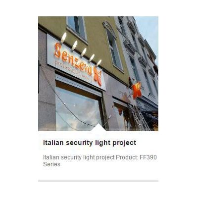 Italian security light project